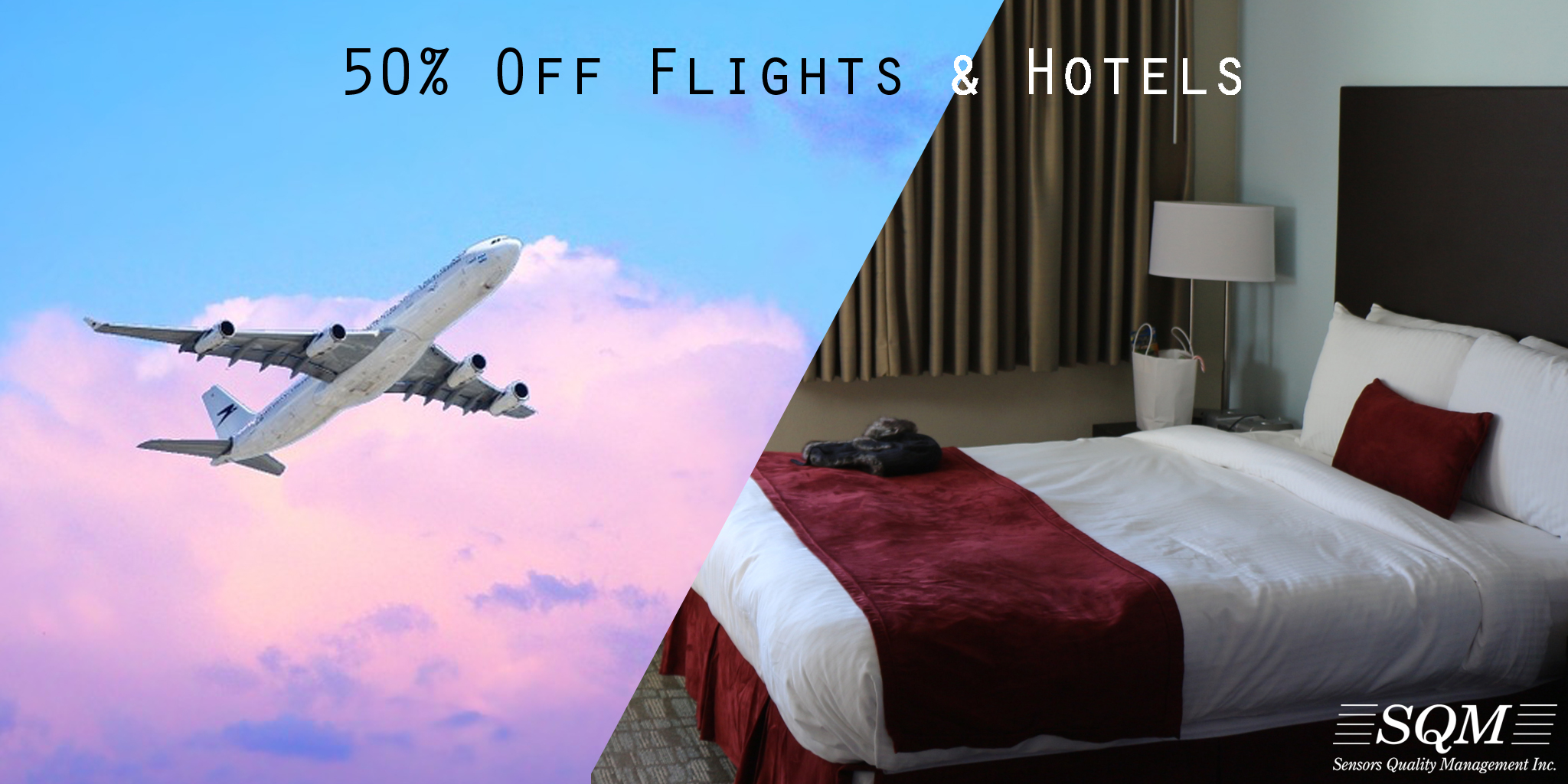 50% Off Flights and Hotels