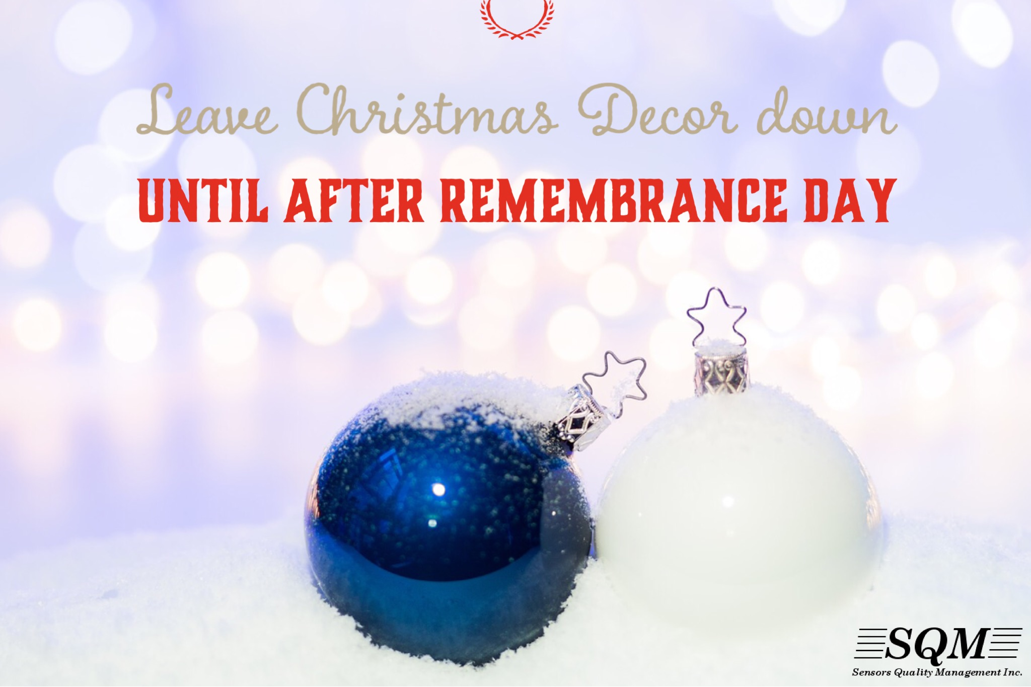 Leave Christmas Decor Down until After Remembrance Day